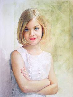 Pastel portrait by a Portraits, Inc., artist