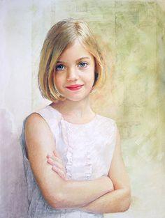 Pastel portrait by a Portraits, Inc., artist