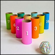 Toilet Paper Roll Bowling Game