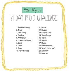 elle moss photo challenge--challenge accepted