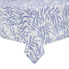 Quality Canvas//Cotton Tortoise Leaf European Floral Large Rectangular Tablecloth