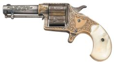 peashooter85: Rare factory engraved Colt Cloverleaf with pearl...