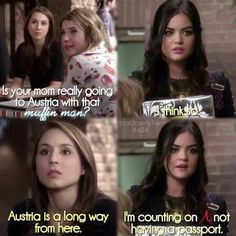Troian Bellisario (Spencer Hastings) , Ashley Benson (Hanna Marin) , Lucy Hale (Aria Montgomery) - Pretty Little Liars