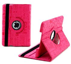 """myLife Iced Berry Pink {Sketch Art Doodles Cartoons Artsy} 360 Degree Rotating Case for Apple iPad Mini 1, 2 and 3 (High Quality Koskin Faux Leather Cover + Slim Lightweight Design) """"All Ports Accessible"""" myLife Brand Products http://www.amazon.com/dp/B00TRKD538/ref=cm_sw_r_pi_dp_lrgdvb1ZW236R"""