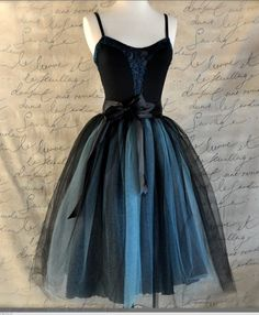 Ballet Dress - I adore this dress - the colors, the skirt, the fitted top and layered tulle skirt.  Heaven.