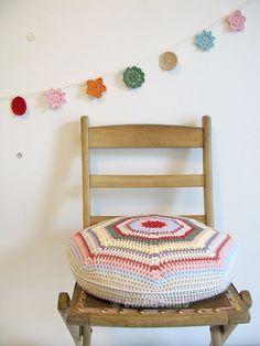 molly hand crochet cushion emma lamb