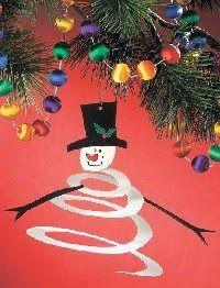 Enfeite para o natal - Boneco de Neve em Espiral