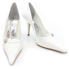 Sapato Scarpin de Noiva Salto Laura Porto - Branco - SA950: Casamento