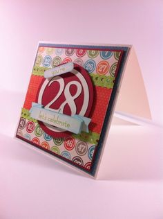 Age Birthday Card - MME lime twist collection card