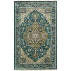 Surya ZEU7822-811 Zeus 8' x 11' Rectangle Wool Hand Knotted Traditional Area Rug - Green