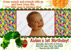 Very Hungry Caterpillar Birthday Invitation by CreativePartyPixels, $7.50