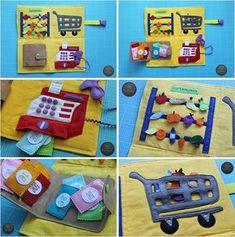 DIY-Anleitung mit Vorlagen *FREEBIE* Supermarkt-Spielbuch Quiet Book