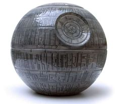 Death Star Cookie Jar!!!!! I AM SERIOUS! If ever there was an item we should own, i think this is it.