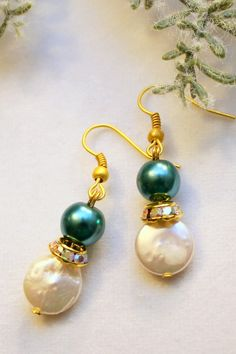 Christmas &Wedding Earrings in Brilliant by SUSANsBAUBLES on Etsy, $29.00