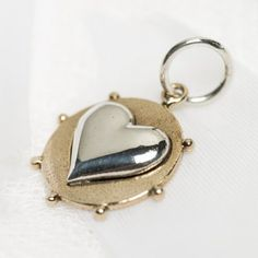 This beautiful charm in sterling silver and brass is designed by Palas Jewellery of South Australia. They can be placed on any of the Palas chains, wrist I Love Jewelry, Charm Jewelry, Love Heart, Silver Bracelets, Heart Charm, Jewelery, Bronze, Charmed, Photo And Video