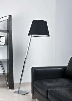 LAMPA podłogowa ORLANDO 5103F/BL Maxlight abażurowa OPRAWA stojąca chrom czarny