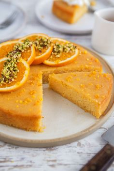 Vegan gluten-free orange polenta cake / Goodness is Gorgeous