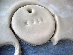 Salt Dough Ornaments. Could totally make pendents or jewlery with the recipe and some paint!