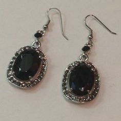 Black Rhinestone Earrings #simple #rhinestones #BAB4U