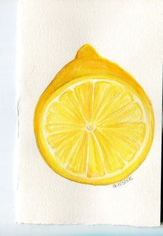 Hey, I found this really awesome Etsy listing at https://www.etsy.com/listing/182117807/original-cut-lemon-watercolor-painting