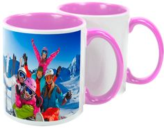 Two Tone Pink Sublimation Mugs