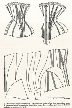 Corset with complicated boning of front