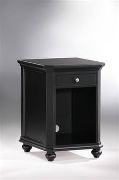 Hanna Black Wood Metal CPU Cabinet