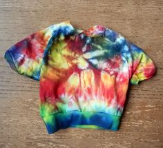 T Shirt  Dye Cotton Tie Dye Multicolor  Small Dog Size -Carla Smale #dharma