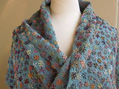 Sophie Digard - embroidery hope of peace scarf