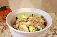 Fried Rice -- kind of. Except that it's not fried, it uses brown rice and fresh veggies, and it. is. delicious!