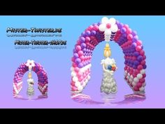 Balloon arch  decoration, Ballon Bogen Dekoration, Modellierballon Ballo...