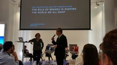 """Begin @petit_a """"""""the role of brands in shaping the world we all want"""" in #ideagoras"""