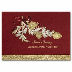 Gracious Business Holiday Card H59903   Business Greeting Cards   Deluxe
