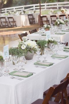 potted wedding centerpieces