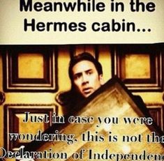 Ben Gates would totally be in the Hermes Cabin...