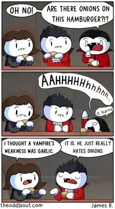 Vampires and Onions by theodd1soutcomic.deviantart.com on @DeviantArt