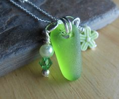 Beach Glass Jewelry  Sea Glass Cluster Necklace  by SeaFindDesigns, $28.00