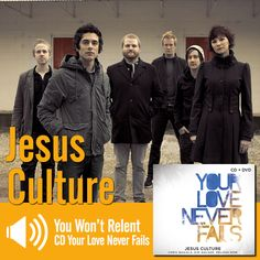 "Escute a música ""You Won't Relent"" do CD Your Love Never Fails do Jesus Culture / Listen to the song ""You Won't Relent"" from the CD Your Love Never Fails by Jesus Culture: http://www.onimusic.com.br/player/player.aspx?IdMusica=737&utm_campaign=musicas-oni&utm_medium=post-11mai&utm_source=pinterest&utm_content=jesus-you-wont-relent-trecho-player"