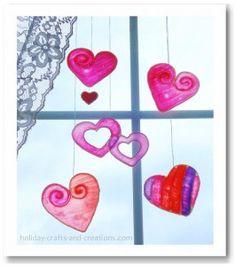 Valentine's Day crafts for kids (via Pinterest)