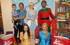 A massive thank you to Dream Bubble Parties, for visiting our children's wards yesterday and bringing some magic to them over the Christmas period.  Three princesses and an elf arrived with sacks full of presents, kindly donated by clients from Beyond Beauty salon in Plymouth and visited the children, putting many smiles on faces.