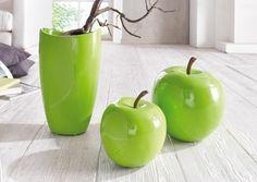 """Deko-Apfel """"Green Line"""", groß"""