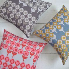Verdure Cushion by Winter's Moon, the perfect gift for Explore more unique gifts in our curated marketplace. Interior Design Process, Design Projects, Room Accessories, Decorative Accessories, Winter Moon, Vintage Winter, Retro Floral, Cushion Pads, Cushion Covers
