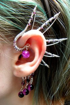 Dragon Wing Ear Cuff. This is pretty cute and unique!