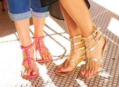 Effortlessly edgy. Gladiator #sandals from #RockRepublic. #Kohls. Liking the gold sandals.