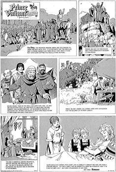 Página de Príncipe Valiente de Harold R. Foster (1892-1982)
