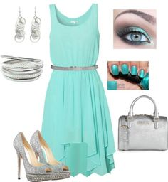 """""""aguamarina"""" by julia-ballester on Polyvore"""