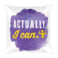 Actually, I can - Square Pillow (Purple) from ASSKICKER INK.  Great gift idea! This soft pillow is an excellent addition that gives character to any space. It comes with a soft polyester insert that will retain its shape after many uses, and the pillow case can be easily machine washed.
