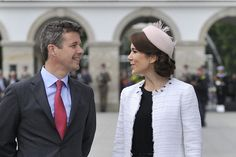 Crown Prince Frederik and Crown Princess Mary of Denmark began an official visit to Poland on Monday.