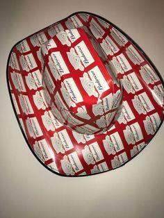 765141e083a BUDWEISER Beer Box COWBOY HAT Stars Anheuser Busch NEW ONE SIZE  Budweiser  Brewery