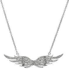 98.00 Emitations Nicole Richie Inspired Pave Angel Wing Necklace #F-EMP007NR